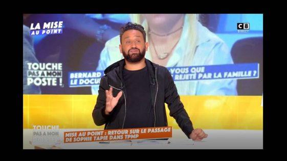 """Cyril Hanouna revient sur la polémique provoquée par son interview de Sophie Tapie dans """"TPMP"""""""