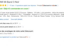 Le Bracelet connecté Xiaomi Mi Band 3 à moins de 20€ !