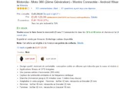 [Bon plan] Motorola Moto 360 Sport à seulement 124€ (au lieu de 220€)