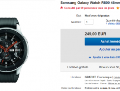 [Bon plan] Samsung Galaxy Watch à moins de 250€