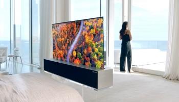 """LG: Voici le premier téléviseur """"enroulable"""" OLED …pour 87 000$"""